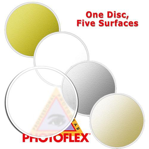 Photoflex MultiDisc Circular Reflector, 5 Surfaces, 42