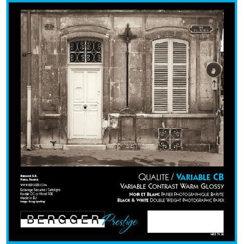 Bergger VC-CB Warm Tone Black & White Variable Contrast Fiber Base Double Weight Paper -20x24