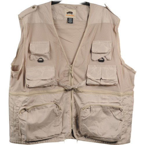 Humvee by CampCo Combat Photo Vest, X-Large (Khaki)