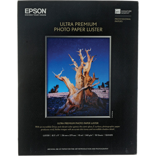 Epson Ultra Premium Luster Photo Paper - 8.5x11