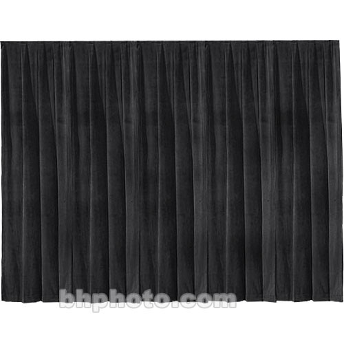 Draper Drapery Panel - 12 x 13' - Velour - Black