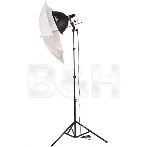 Smith-Victor KT400 1-Light 500 Watt Thrifty Add-On Kit w/ Umbrella (120VAC)