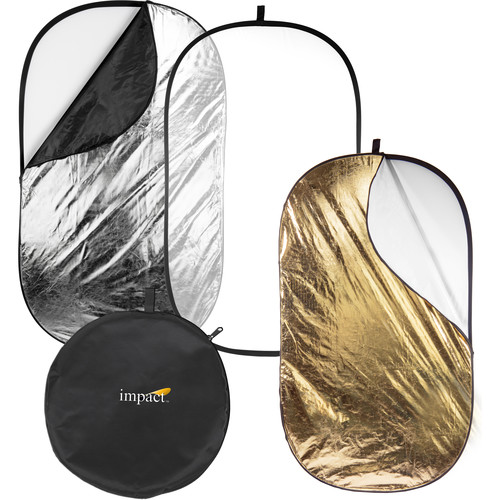 Impact 5-in-1 Collapsible Oval Reflector - 42x72