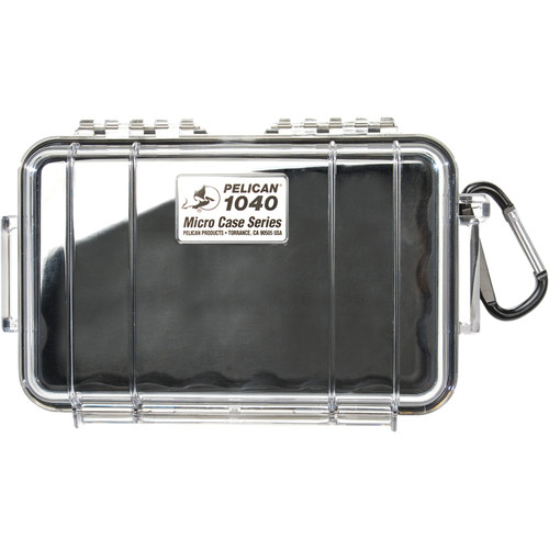 Pelican 1040 Micro Case (Clear Black with Colored Lining)