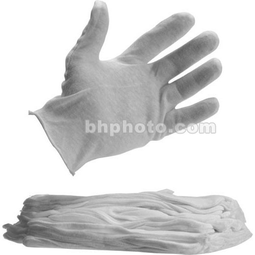 Delta 1 White Darkroom Cotton Gloves - 4 Pair (Small)