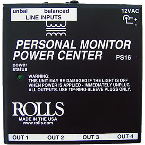 Rolls PS16 Personal Monitor Power Center