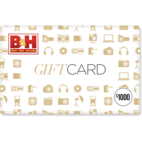 B&H Photo $1000 Gift Card