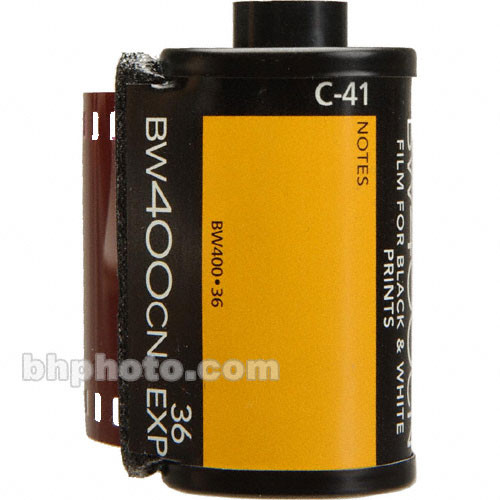 Kodak Professional BW400CN Black and White Negative Film (35mm Roll Film, 36 Exposures)