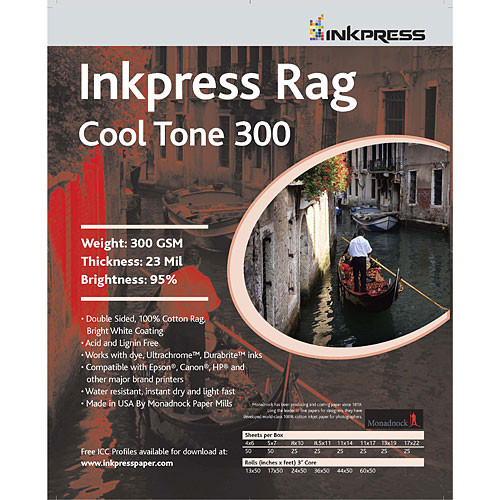 Inkpress Media Rag Cool Tone 300 Paper (17 x 22