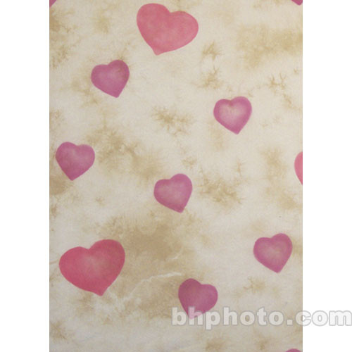 Studio Dynamics 10x15' Muslin Background - Eros Hearts