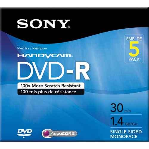 Sony 1.4 GB DVD-R (5 Discs)
