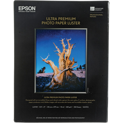 Epson Ultra Premium Photo Paper Luster - 8.5x11