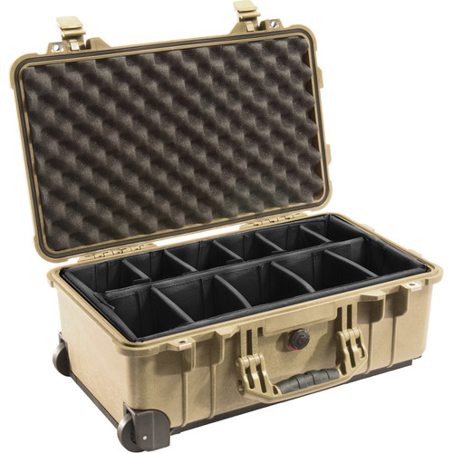 Pelican 1514 Carry On 1510 Case with Dividers (Desert Tan)