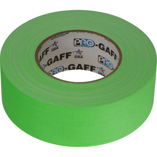 ProTapes Pro-Gaffer Fluorescent Green Tape - 2