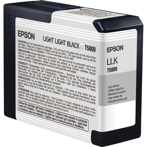 Epson UltraChrome K3 Light Light Black Ink Cartridge (80 ml)