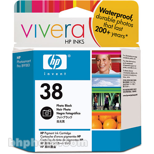 HP (C9413A ) HP 38 Photo Black Pigment Ink Cartridge