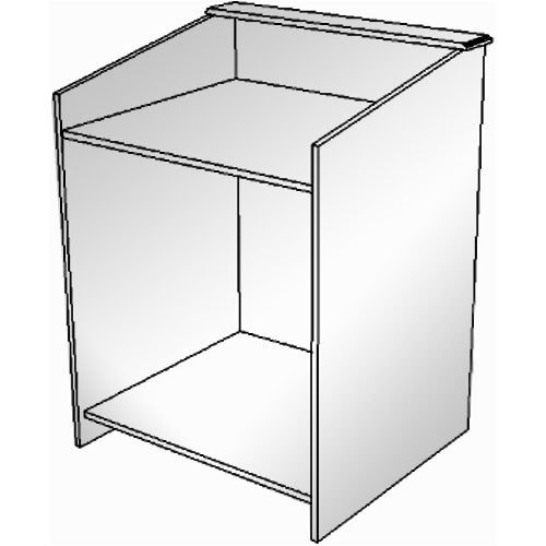 BEI Audio Visual Products Multimedia Lectern - Basic 35