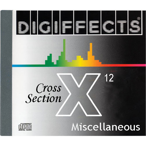 Sound Ideas Digiffects Cross Section Series X - Full Set of 12 CDs