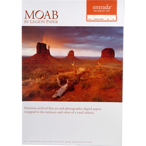 Moab Entrada Rag Bright 300 Paper for Inkjet (13x19