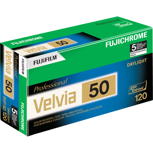 Fujifilm RVP 120 Fujichrome Velvia 50 Professional Color Slide Film (ISO-50)