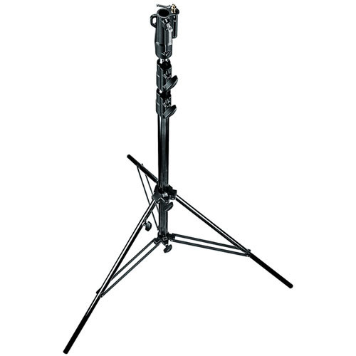 Manfrotto 126BSUAC Heavy Duty Air Cushioned Steel Cine Stand, Black - 11' (3.3m)