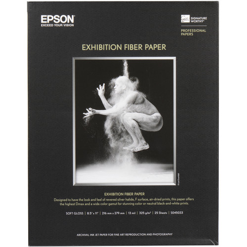 Epson Exhibition Fiber Paper for Inkjet (8.5 x 11
