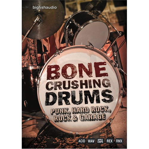 Big Fish Audio Bone Crushing Drums for Apple Loops
