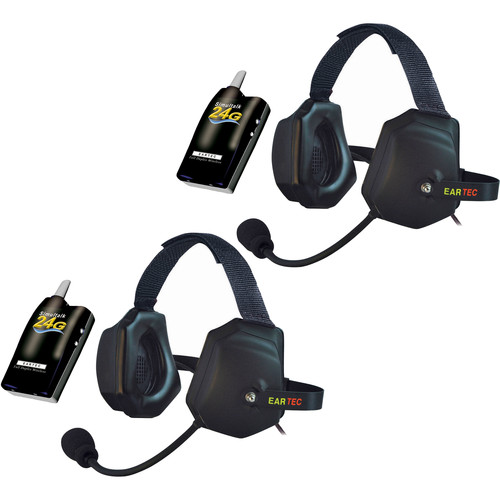 Eartec 2 Simultalk 24G Beltpacks with Xtreme Headsets