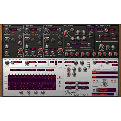 Rob Papen Predator - Virtual Synthesizer Plug-In