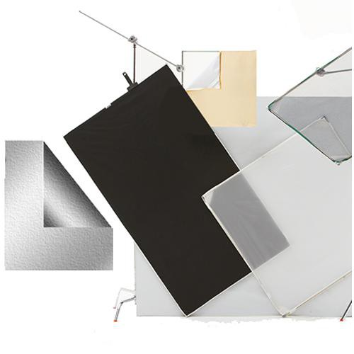 Chimera Panel Fabric ONLY for Aluminum Frame, Silver/Black - 48x48