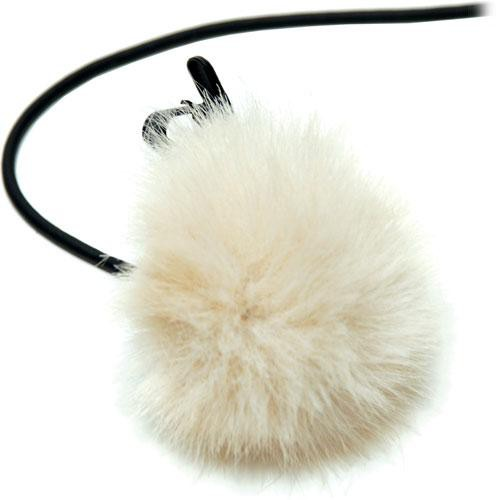 K-Tek KTFLTBG - Fuzzy Topper Windscreen for Lavalier Microphones (Beige )