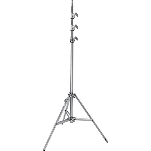 Avenger A0045B 14.7' Baby Steel Stand 45 with Leveling Leg (Chrome-plated)