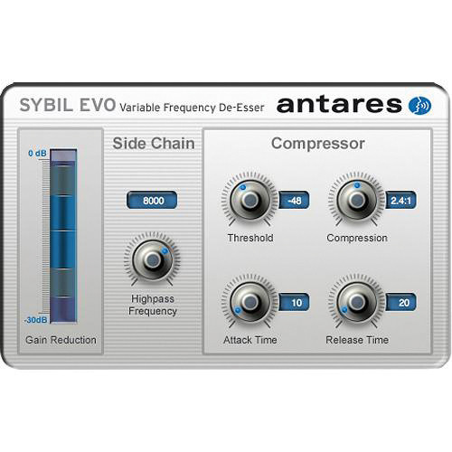 Antares Audio Technologies SYBIL Evo - Variable Frequency De-Esser