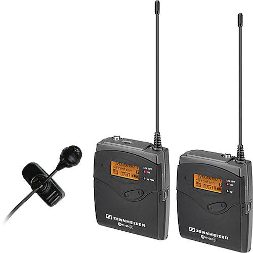 Sennheiser ew 122-p G3 Camera Mount Wireless Microphone System with ME4 Lavalier Mic - G (566-608 MHz)
