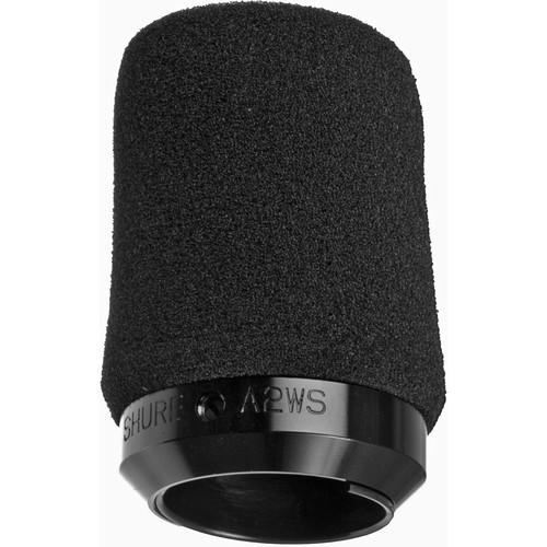 Shure A2WS-BK Black Foam Locking Windscreen