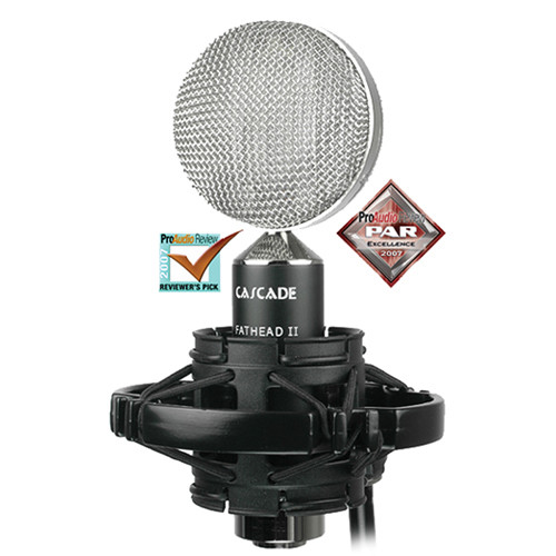 Cascade Microphones Fat Head II Ribbon Microphone (Black / Silver)