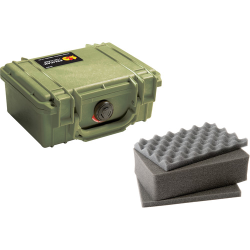 Pelican 1120 Case with Foam Olive Drab Green)