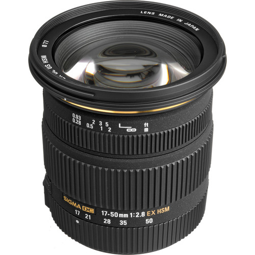 Sigma 17-50mm f/2.8 EX DC OS HSM Zoom Lens for Sigma DSLRs with APS-C Sensors
