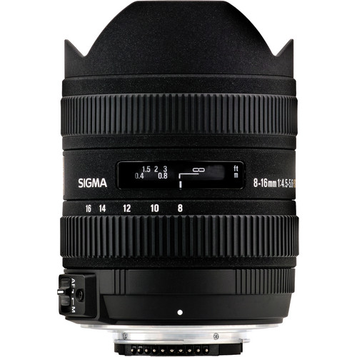 Sigma 8-16mm f/4.5-5.6 DC HSM Ultra-Wide Zoom Lens for Select Nikon DSLRs