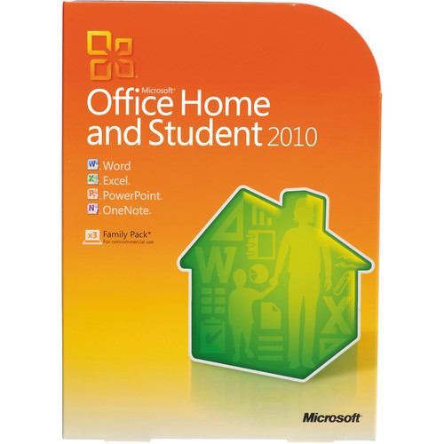 Microsoft Office Home and Student 2010 Software (32/64-bit)