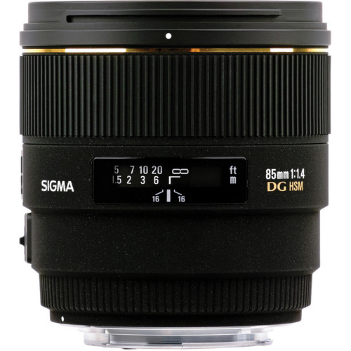 Sigma 85mm f/1.4 EX DG HSM Lens For Sigma Digital SLR Cameras