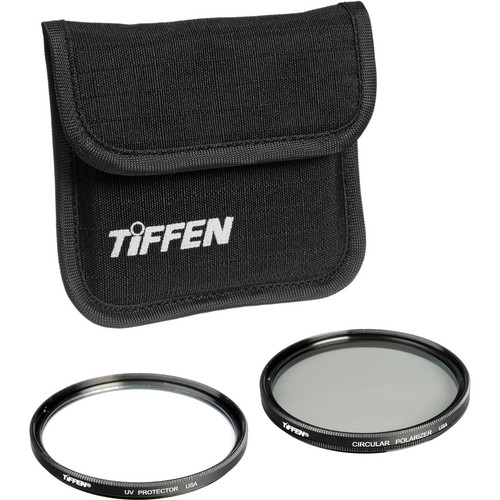 Tiffen 77mm Photo Twin Pack (UV Protection and Circular Polarizing Filter)