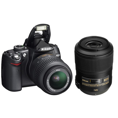 Nikon D5000 Digital SLR Camera Kit with 18-55mm & Micro 85mm VR Lenses