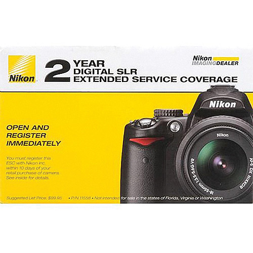 Nikon 2-Year Extended Service Coverage (ESC) for the Nikon D7100, D7000 Digital SLR Cameras