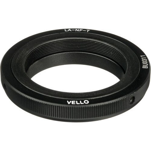 Vello Lens Mount Adapter - T Mount Lens to Nikon F Mount Camera