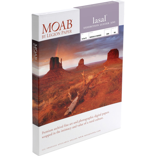 Moab Lasal Exhibition Luster 300 Paper (8.5 x 11