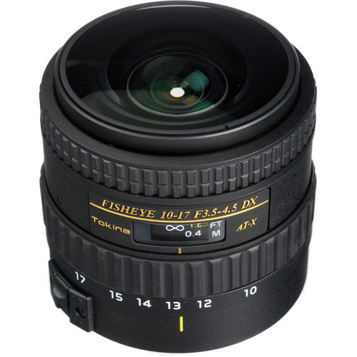 Tokina AT-X 107 AF NH Fisheye 10-17mm f/3.5-4.5 Lens for Canon