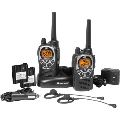 Midland GXT1000VP4 2-Way Compact Communication Radio (Pair)