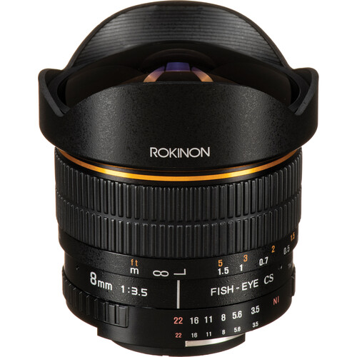 Rokinon 8mm Ultra Wide Angle f/3.5 Fisheye Lens for Nikon F Mount