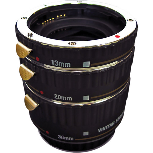 Vivitar Macro Extension Tube Set (Set of 3) for Sony A
